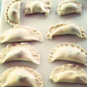 Empanadas waiting for the hot oil.