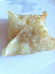 What the finished gyoza looked like.