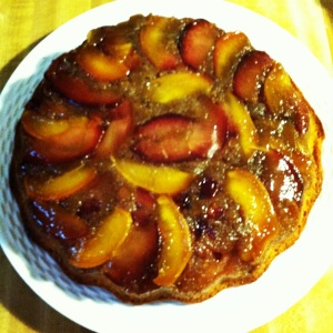 This is the peach-plum upside down cake.