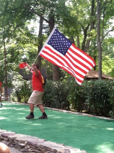 Brian led the cheers for USA soccer!